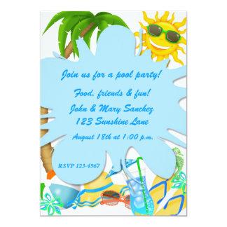 """Summer Fun Invitation 5"""" X 7"""" Invitation Card"""