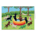 Summer Fun Labradors Painting