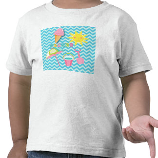 Summer Fun on Blue Waves T Shirts