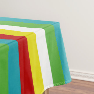 Summer Fun Palette Stripes Tablecloth
