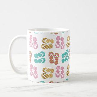 Summer fun pastel flip flop sandal slipper pattern basic white mug