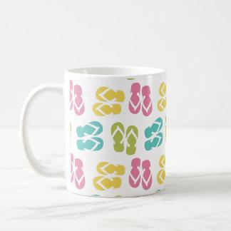 Summer fun pastel flip flop sandal slipper pattern coffee mug
