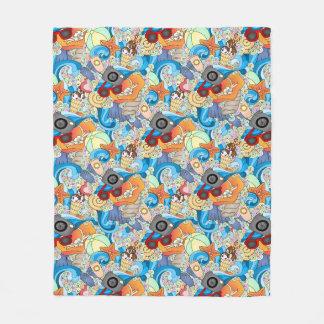 Summer Fun Pattern 2 Fleece Blanket