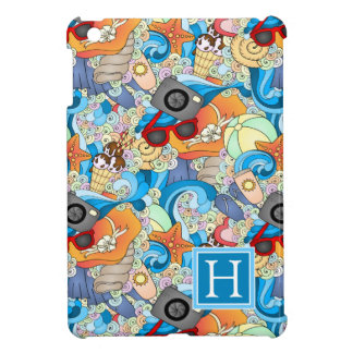 Summer Fun Pattern | Add Your Initial Cover For The iPad Mini