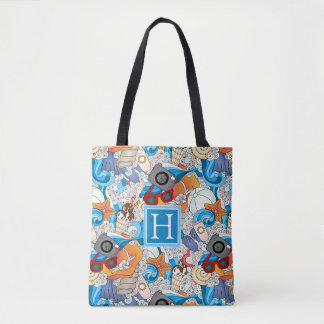 Summer Fun Pattern | Add Your Initial Tote Bag