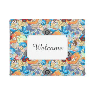 Summer Fun Pattern | Add Your Text Doormat