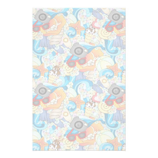 Summer Fun Pattern Custom Stationery