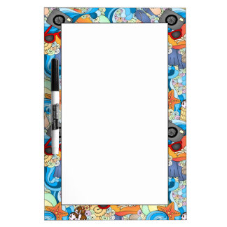 Summer Fun Pattern Dry Erase Board