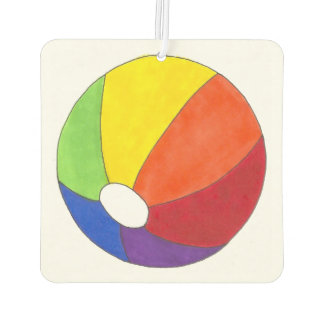Summer Fun Rainbow Beach Ball Beachball Car Air Freshener