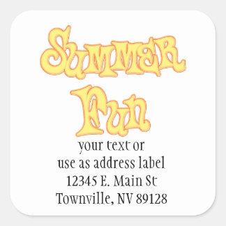 Summer Fun Text Design Stickers