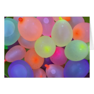 Summer Fun Water Balloons Note Card