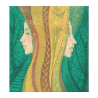 Summer, Gaja, Forest Goddess, fantasy surreal art Canvas Print
