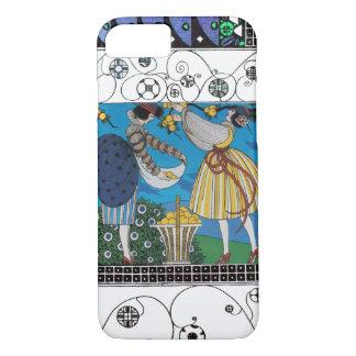 SUMMER GARDEN AND SWIRLS /FASHION COSTUME DESIGNER iPhone 7 CASE