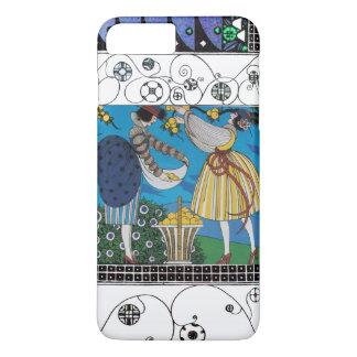 SUMMER GARDEN AND SWIRLS /FASHION COSTUME DESIGNER iPhone 7 PLUS CASE