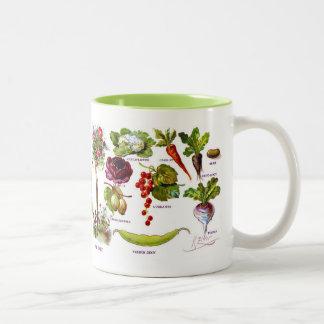 Summer Garden Botanicals Two-Tone Coffee Mug