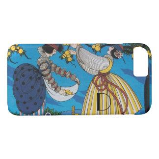 SUMMER GARDEN/  FASHION COSTUME DESIGNER MONOGRAM iPhone 8/7 CASE