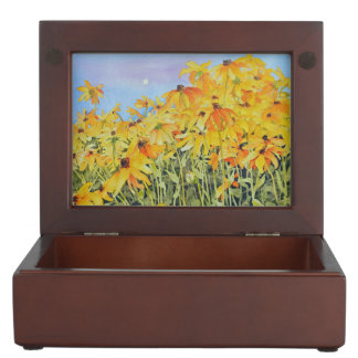 Summer Garden of Black-eyed Susans Keepsake Box