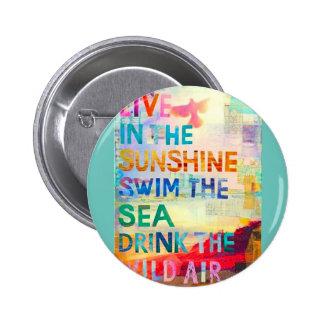 Summer Girl 6 Cm Round Badge