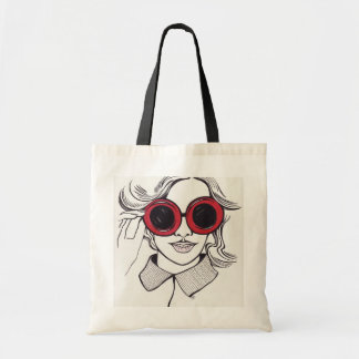 summer girl illustration shopper bag