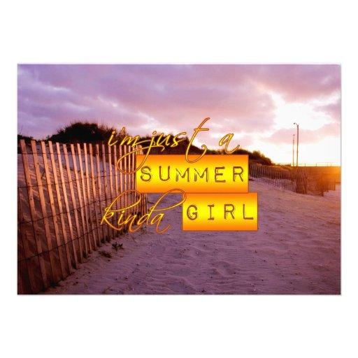 Summer Girl Custom Invitation