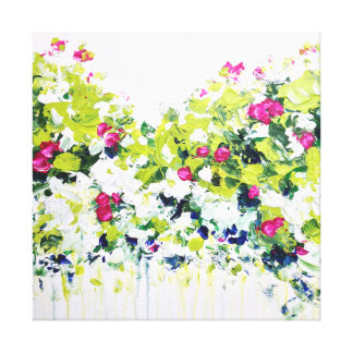 Summer Green Floral Canvas Print