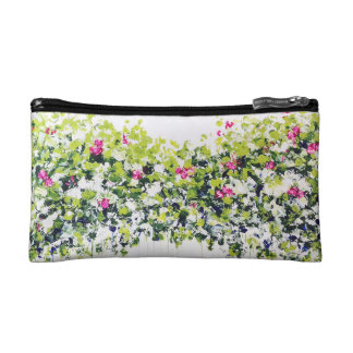 Summer Green Floral Cosmetic Bag