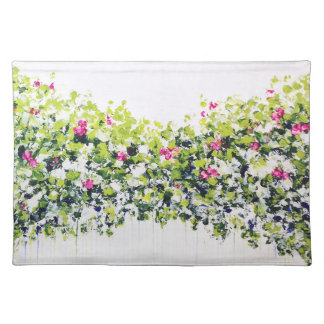 Summer Green Floral Placemat