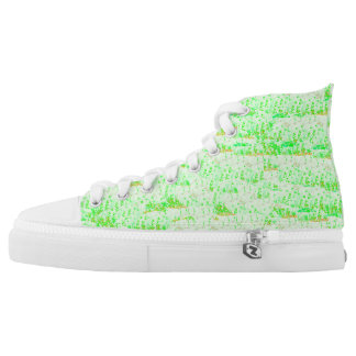 Summer green printed shoes