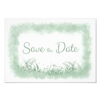 Summer Green Wedding Save the Date Announment 9 Cm X 13 Cm Invitation Card