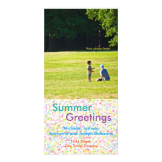 Summer Greetings, summer, the postcard and hot sea Photo Card