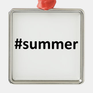 Summer Hashtag Christmas Ornament