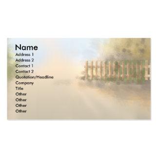 summer haze landscape design business card templates