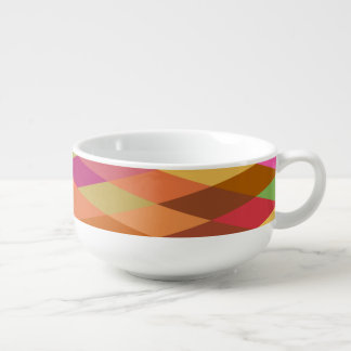 Summer Heat Harlequin Abstract Geometric Soup Mug