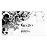 summer hi-fi (black & white) pack of standard business cards