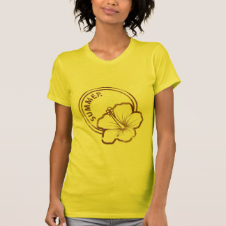 Summer hibiscus rubber stamp T-Shirt