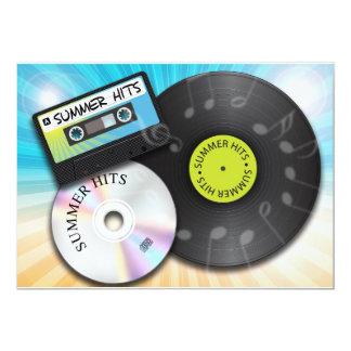 Summer Hits 13 Cm X 18 Cm Invitation Card