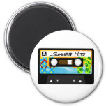 Summer Hits Tape 6 Cm Round Magnet