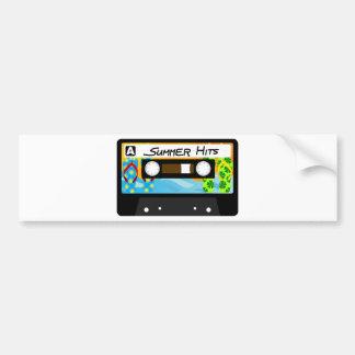 Summer Hits Tape Bumper Sticker