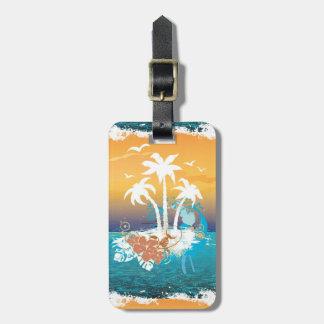 Summer Holiday Beach Palm Trees Hawaii Tag