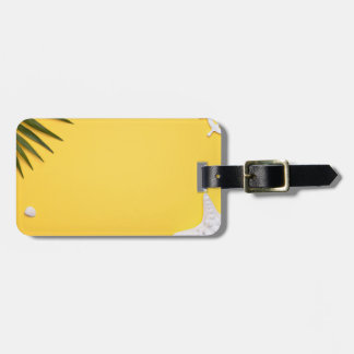 Summer Holiday Vacation Background Luggage Tag