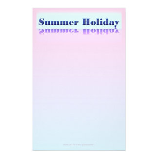 Summer Holiday Writing Paper