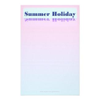 Summer Holiday Writing Paper Custom Stationery