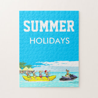 Summer holidays Banana boat group of friends Jigsaw Puzzle