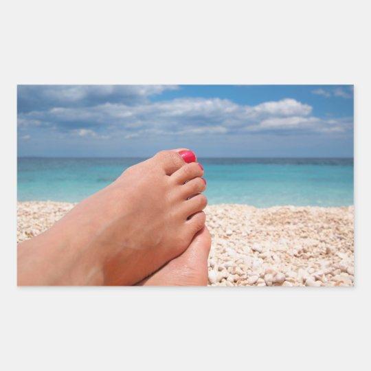Summer holidays rectangular sticker