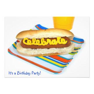 Summer Hot Dog Birthday Party Invitation