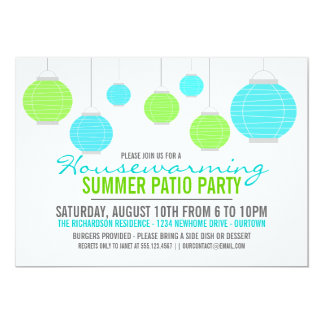 Summer Housewarming Patio Party Invitation