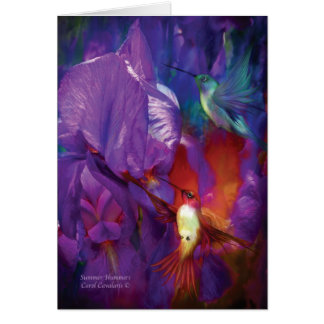 Summer Hummers ArtCard Greeting Cards