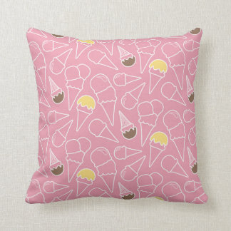 Summer Ice Cream Pattern Cushion