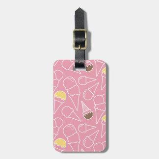 Summer Ice Cream Pattern Luggage Tag