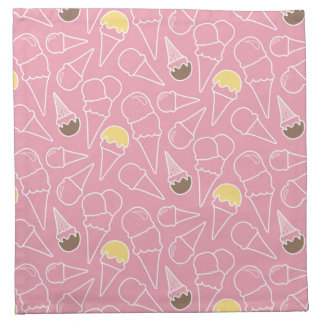 Summer Ice Cream Pattern Napkin